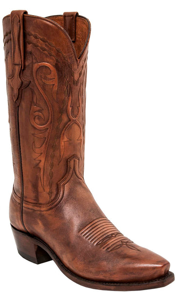 Lucchese Brandon Mens Whiskey Brown Cowboy Boots N1665 - Made in America
