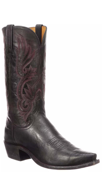 Lucchese WHITTAKER N1673.53 Mens Antique Bordeaux Mad Dog Goat Boots