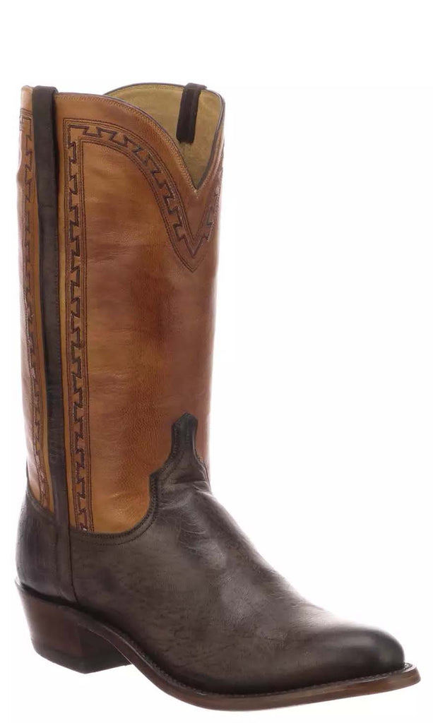 Lucchese STANLEY N1684.R3 Mens Antique Chocolate Mad Dog Goat Boots