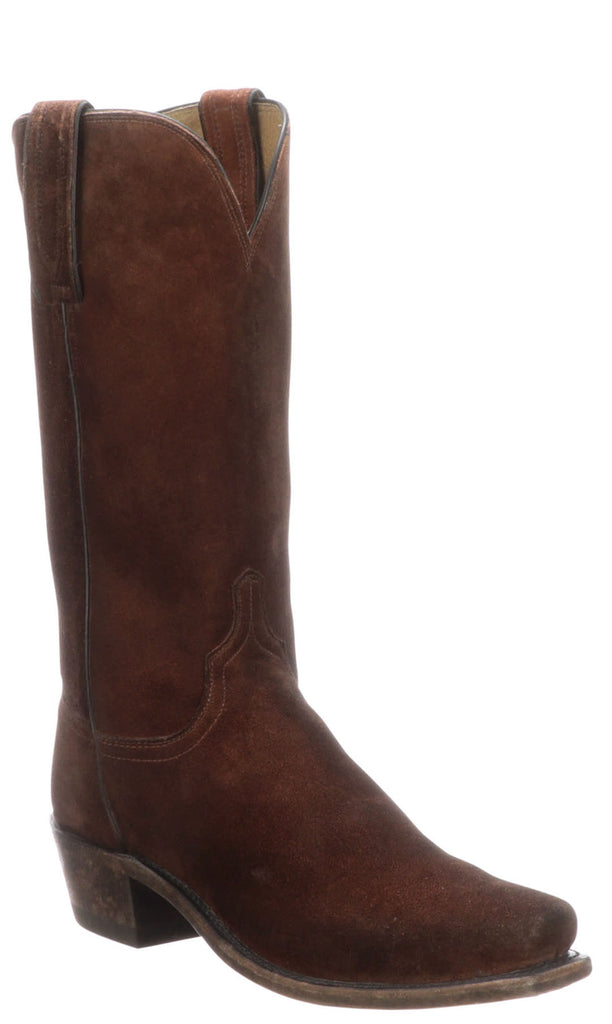 Lucchese LIVINGSTON N1698.74 Mens Stonewashed Rust Sequoia Suede Boots
