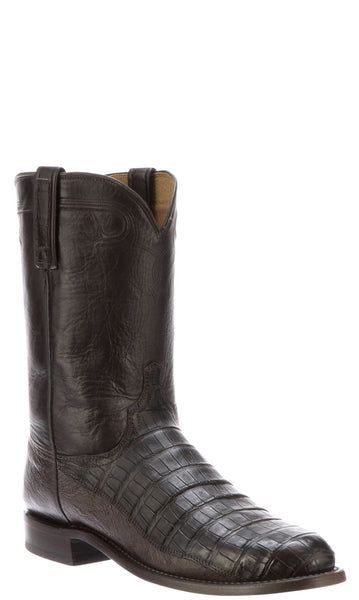 Lucchese GERARD N3050.C2 Mens Chocolate Caiman Crocodile Roper Boots