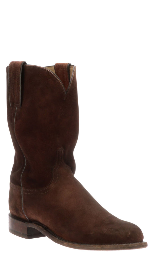 Lucchese LINCOLN N3566.C2 Mens Stonewashed Rust Suede Boots Size 9.5 D STALL STOCK