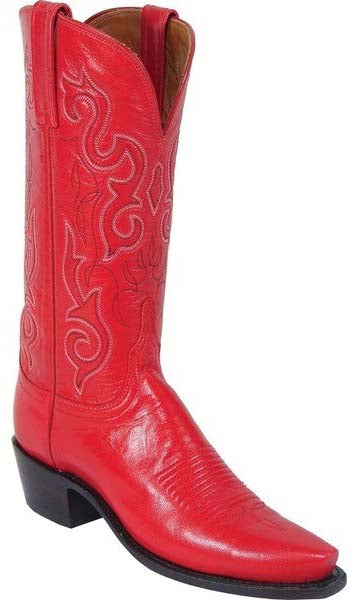 Lucchese N4525.54 Womens Red Goat Leather Boots