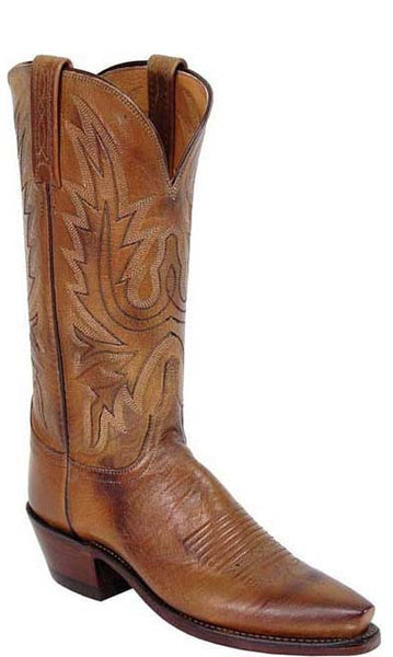 Lucchese N4540 Womens Tan Burnished Mad Dog Goat Boots