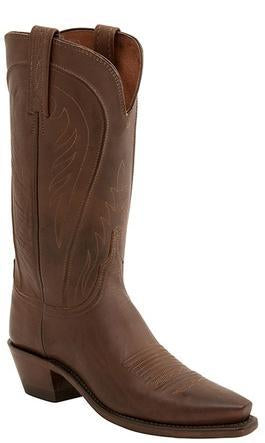 Lucchese AMBERLE N4604 Womens Tan Burnished Ranch Hand Boots