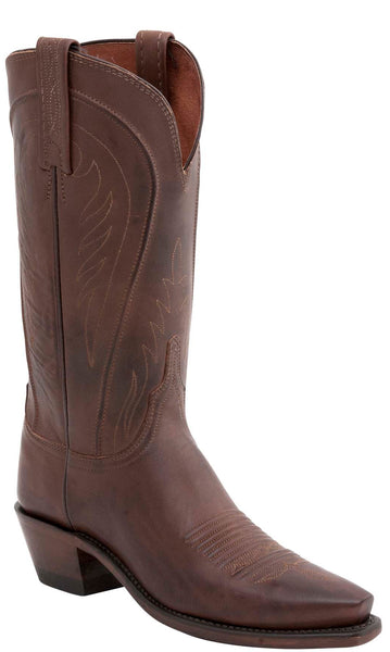 Lucchese AMBERLE N4604.74 Womens Tan Burnished Ranch Hand Boots