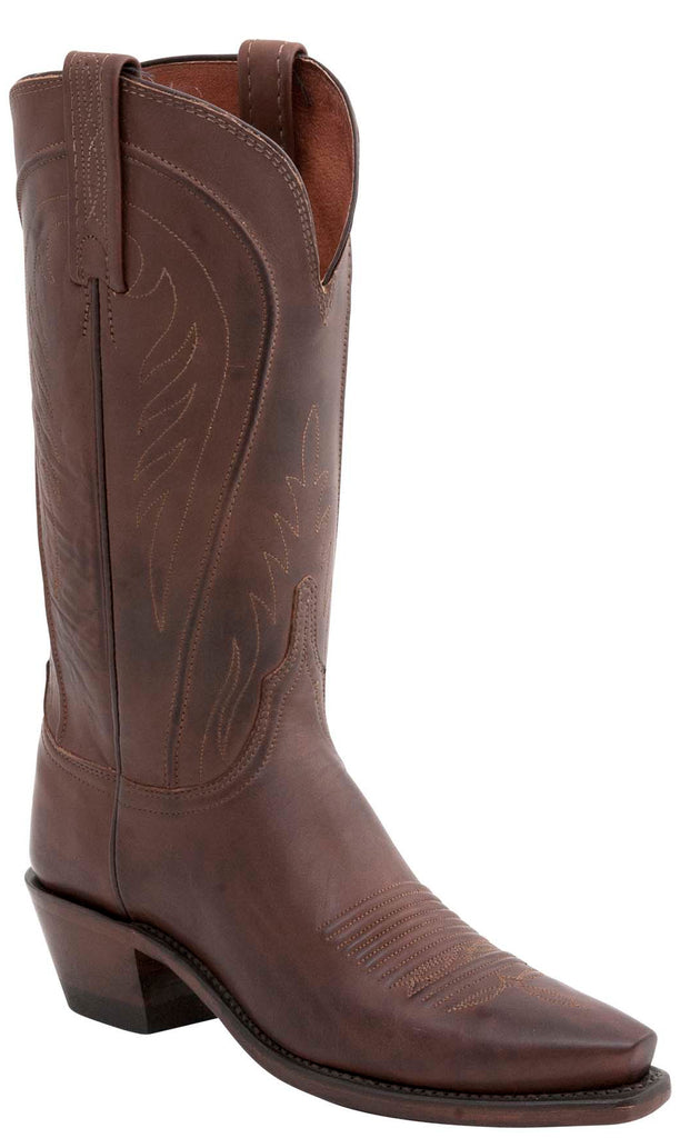 Lucchese AMBERLE N4604.J4 Womens Tan Burnished Ranch Hand Boots