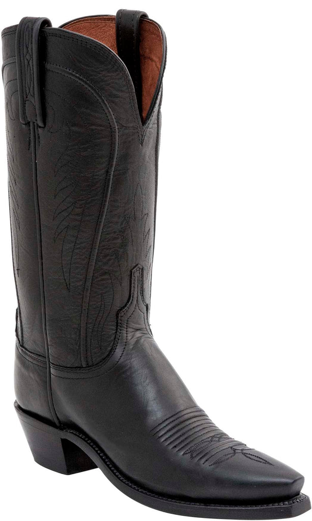 Lucchese AMBERLE N4605.54 Womens Black Burnished Ranch Hand Boots Size 9.5 C STALL STOCK