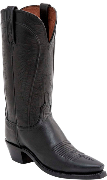 Lucchese AMBERLE N4605.54 Womens Black Burnished Ranch Hand Boots