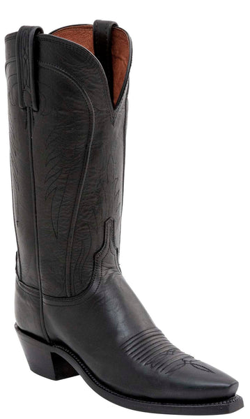 Lucchese AMBERLE N4605.74 Womens Black Burnished Ranch Hand Calfskin Boots