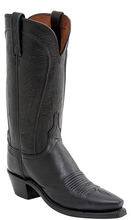 Lucchese AMBERLE N4605 Womens Black Burnished Ranch Hand Boots