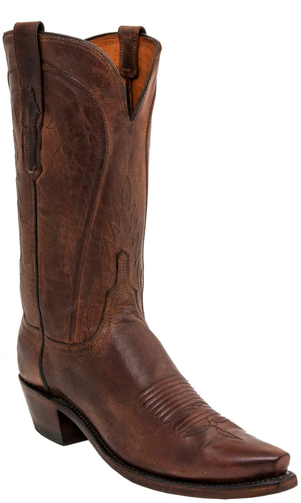 Lucchese WILLA N4766 Womens Peanut Brittle Mad Dog Goat Boots