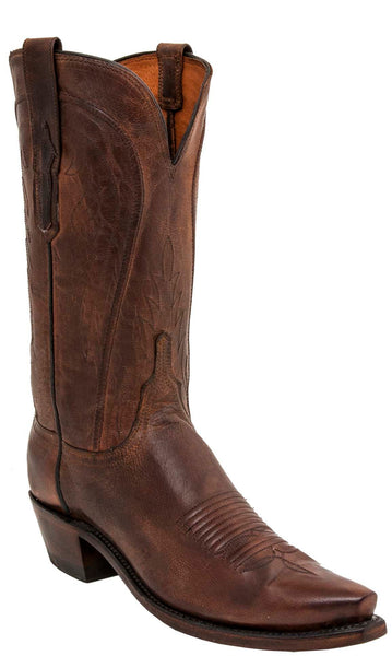 Lucchese WILLA N4766.74 Womens Peanut Brittle Mad Dog Goat Boots