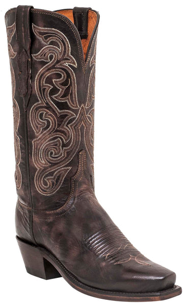 Lucchese ANNIE N4768.73 Womens Dark Brown Goat Boots