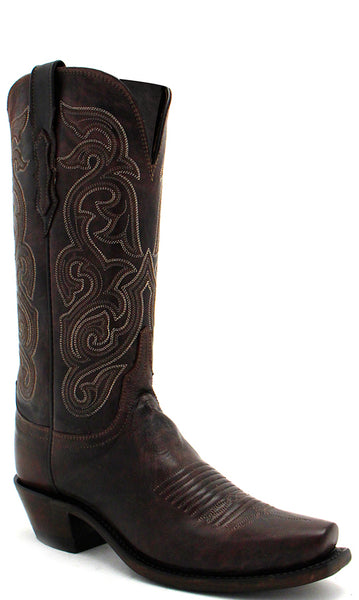 Lucchese ANNIE N4768.74 Womens Dark Brown Goat Boots