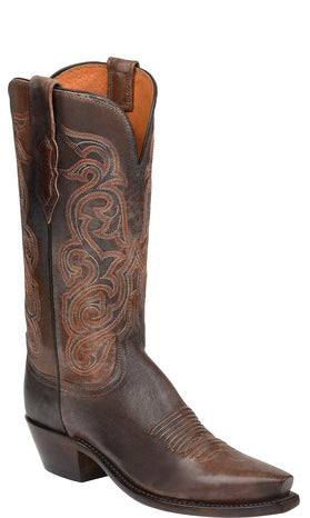 Lucchese ANNIE N4769.R4 Womens Pearwood Tan Goat Boots