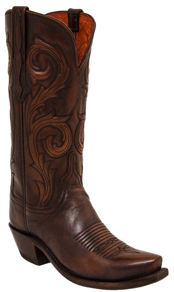 Lucchese NICOLE N4771 Womens Antique Brown Calfskin Boots