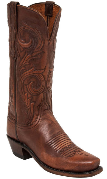 Lucchese NICOLE N4774 Womens Rust Brown Calfskin Boots