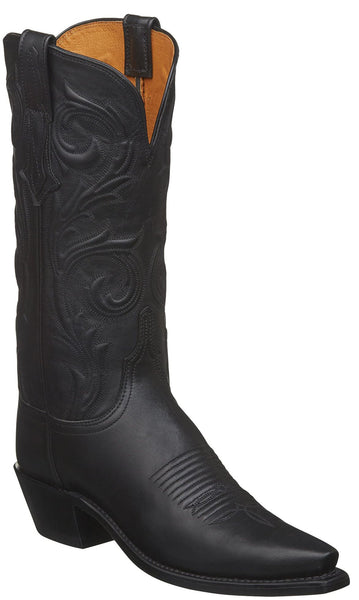 Lucchese NICOLE N4783.54 Womens Black Jersey Calfskin Boots