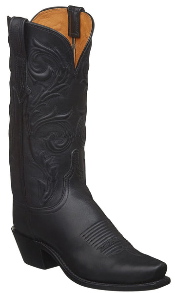 Lucchese NICOLE N4783.74 Womens Black Jersey Calfskin Boots