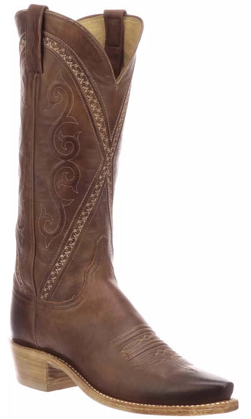 Lucchese DARLENE N4789 Womens Tan Mad Dog Goat Boots