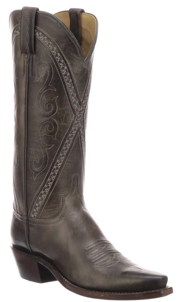 Lucchese DARLENE N4790.53 Womens Anthracite Grey Mad Dog Goat Boots Size 7.5 B STALL STOCK