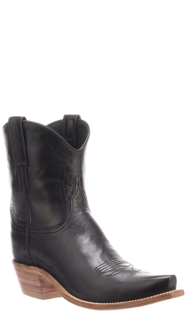 Lucchese GABY N4807.S54 Womens Black Burnished Goat Boots