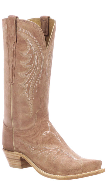 Lucchese MARGOT N4818.S54 Womens Blush Suede Boots