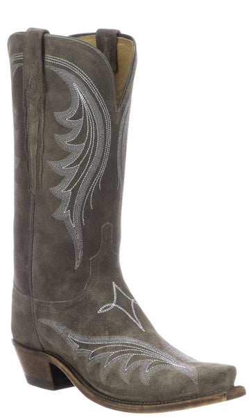 Lucchese MARGOT N4820.S54 Womens Grey Suede Boots