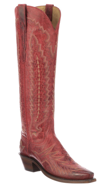 Lucchese PRISCILLA N4830.54 Womens Red Mad Dog Goat Boots