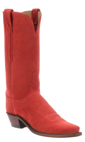 Lucchese ELEANOR N4844.54 Womens Red Suede Boots