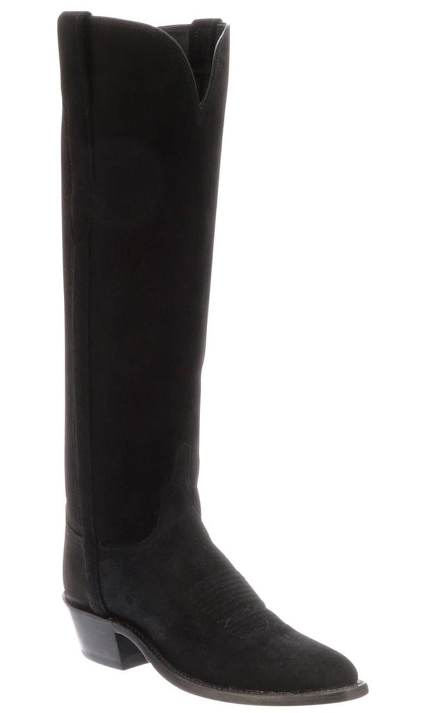 Lucchese EDIE N4847.J4 Womens Black Suede Boots