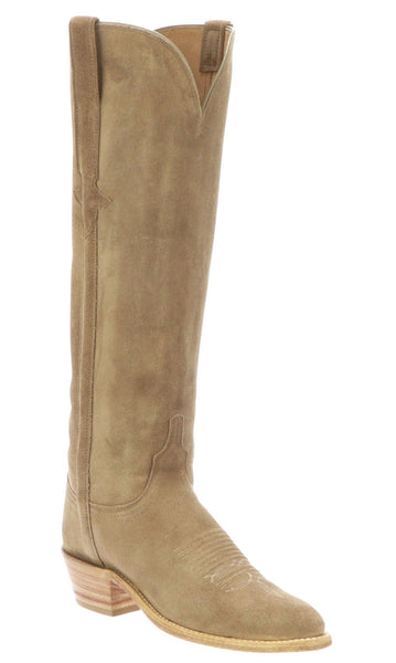 Lucchese EDIE N4849.J4 Womens Tan Suede Boots
