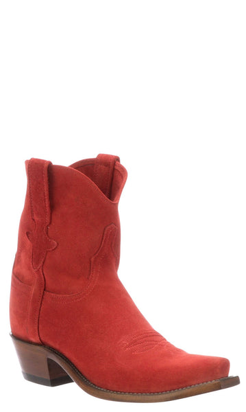 Lucchese ELENA N4858.S54 Womens Red Suede Boots