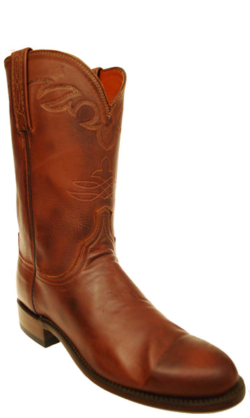 Lucchese N8793.C2 Mens Tan Burnished Jersey Calfskin Boots Size 8.5 B STALL STOCK