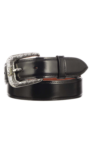 Lucchese W2201 Mens 1.5 Inch Black Goat Plain Belt
