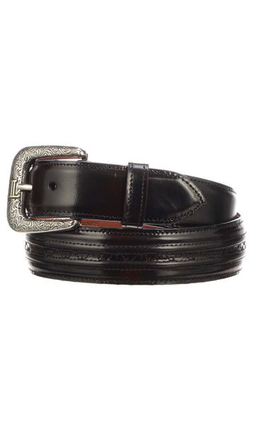Lucchese W2211H Mens 1.5 Inch Black Cherry Goat Hobby Belt