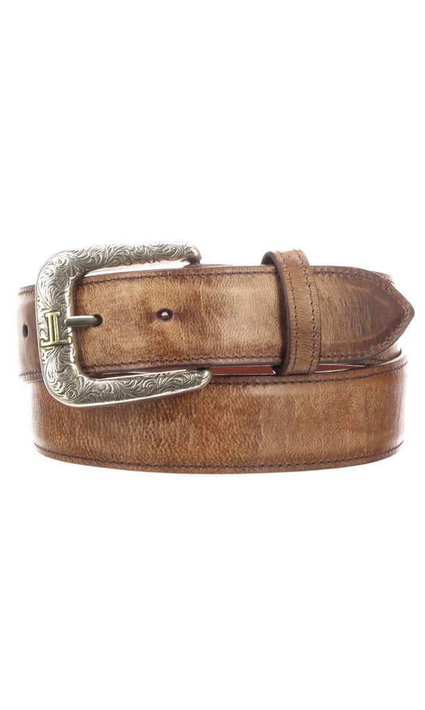 Lucchese W2241 Mens 1.5 Inch Tan Mad Dog Goat Plain Belt