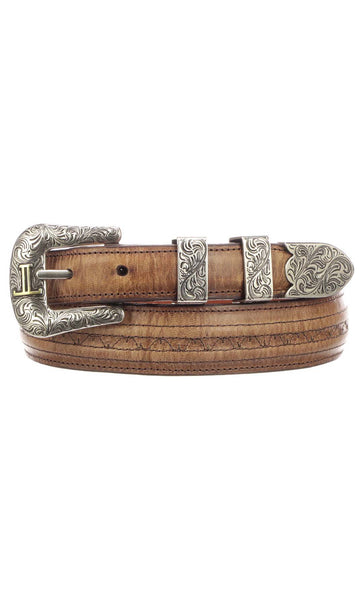 Lucchese W2242H Mens 1.25 Inch Tan Mad Dog Goat Hobby Belt