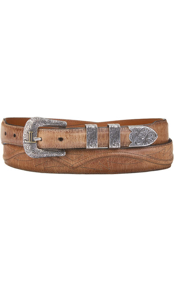 Lucchese W2242S Mens 1.25 Inch Tan Mad Dog Goat Seville Belt