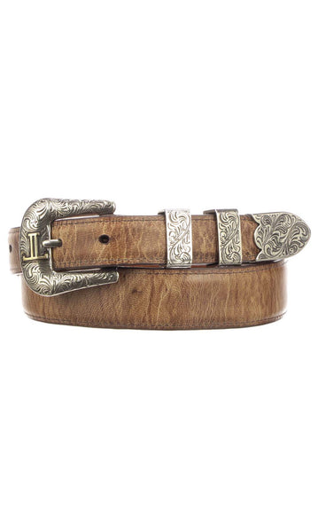 Lucchese W2242 Tan Mad Dog Goat Mens Belt