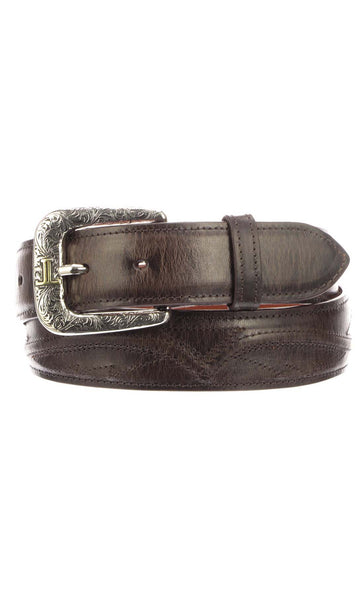 Lucchese W2251S Mens 1.5 Inch Chocolate Mad Dog Goat Seville Belt