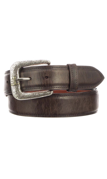Lucchese W2251 Mens 1.5 Inch Chocolate Mad Dog Goat Plain Belt Size 42 STALL STOCK