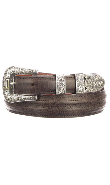 Lucchese W2252H Mens 1.25 Inch Chocolate Mad Dog Goat Hobby Belt