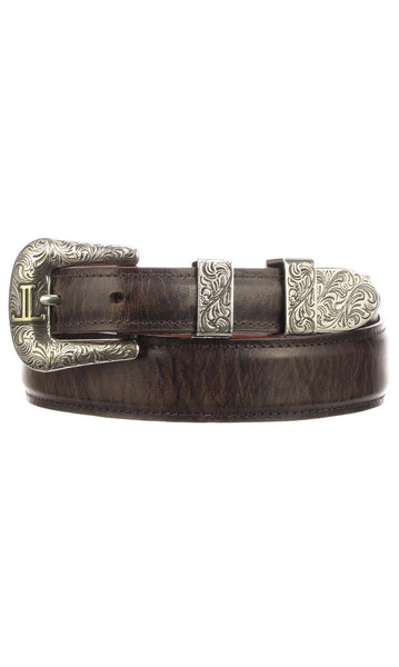 Lucchese W2252 Mens 1.25 Inch Chocolate Mad Dog Goat Plain Belt