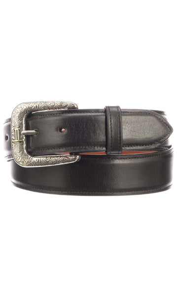 Lucchese W4201 Black Ranch Hand Calfskin Mens Belt