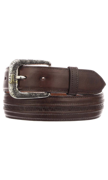 Lucchese W4251H Mens 1.5 Inch Tan Burnished Ranch Hand Calfskin Hobby Belt