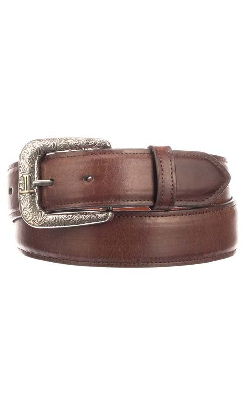 Lucchese W4251 Mens 1.5 Inch Tan Burnished Ranch Hand Calfskin Plain Belt