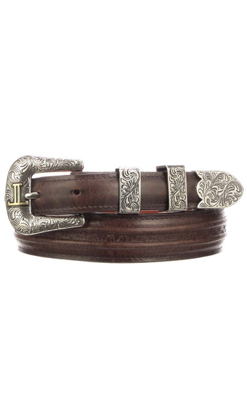 Lucchese W4252 Tan Burnished Ranch Hand Calfskin Mens Belt