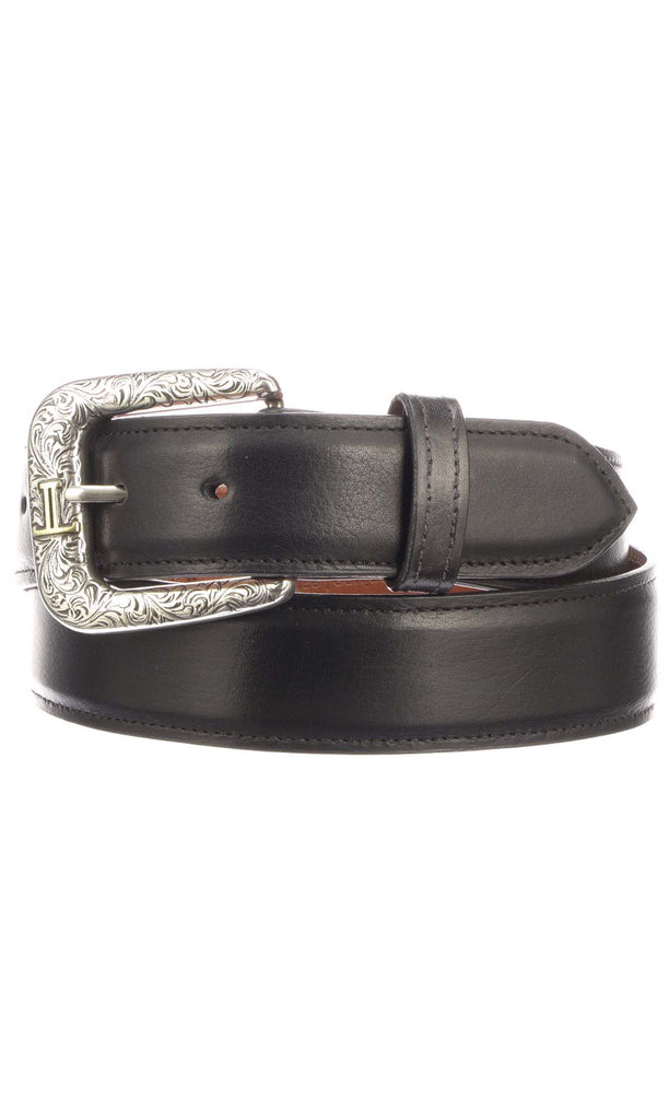 Lucchese W5241 Mens 1.5 Inch Black Baby Buffalo Plain Belt